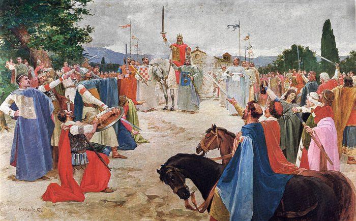 Oton Iveković Slikar Motiva Iz Hrvatske Povijesti 1869