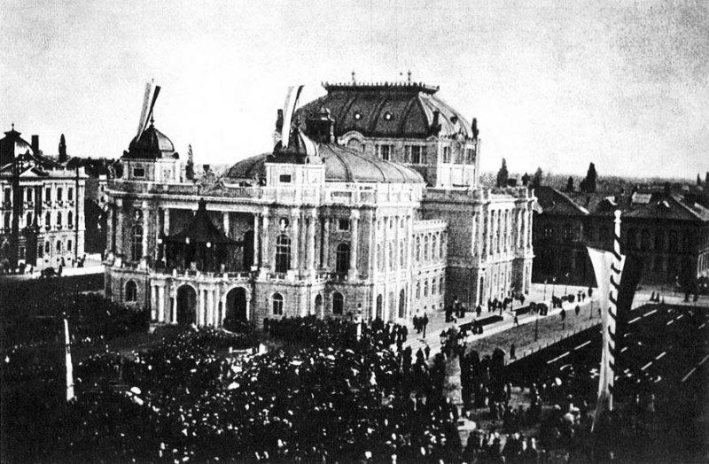 Car Franjo Josip I Otvorio Zgradu Hnk U Zagrebu 1895 Povijest Hr