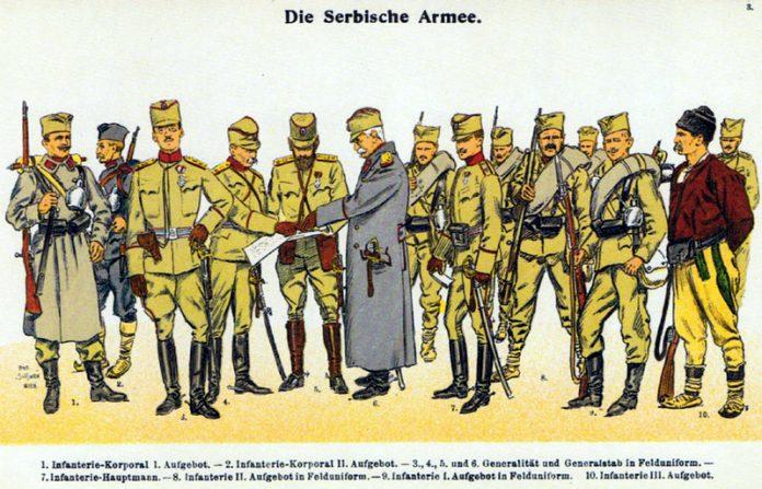 Na današnji dan - Page 23 Moritz_Ruhl_-_Serbische_Armee_1914_-_Felduniformen-696x447