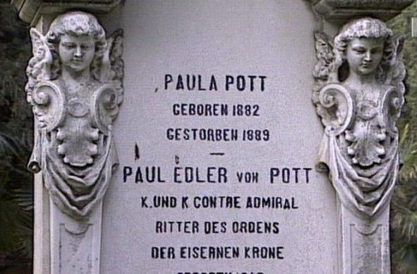 Nadgrobna ploča Paula Eldera von Potta i Paule Pott
