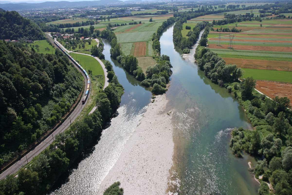 Sava, Ljubljanica i Kamniška Bistrica
